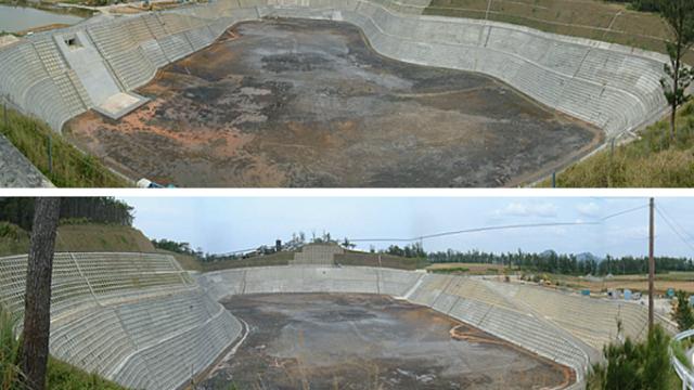 伊是名農業水利事業千原貯水池建設工事