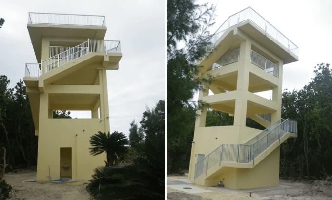 水納島津波避難施設(展望台)建築工事