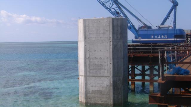 伊良部大橋橋梁整備第3期工事(下部工Ρ2、Ρ4、Ρ5)